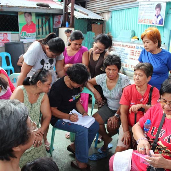Settlement profiling exercise in Manila, Philippines,2013